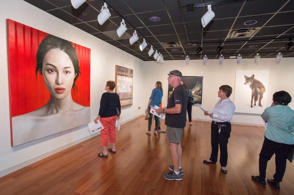 gallery visitors